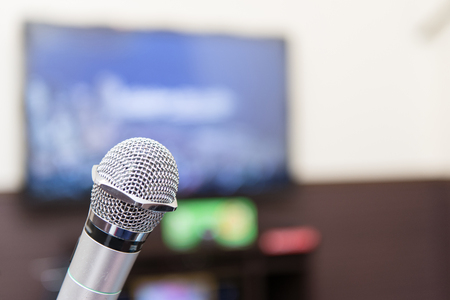 Karaoke image photo, microphone Stock Photo