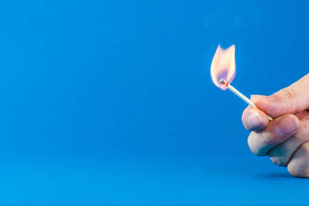 Matchsticks and fire Stock Photo