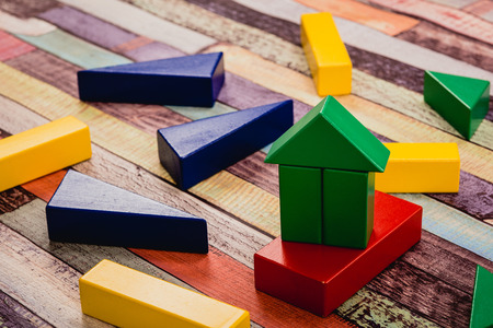 家のビルディング ブロック 写真素材