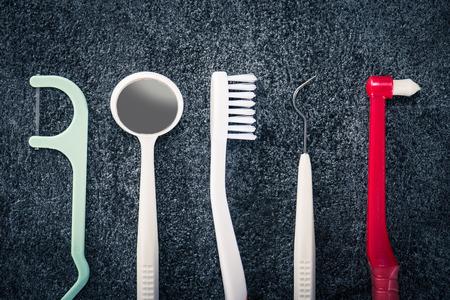 Toothbrush dental care Stock Photo