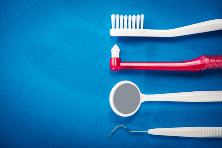 Toothbrush dental care Stock Photo