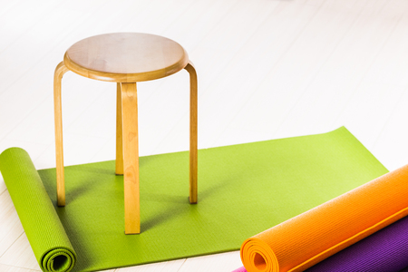Yoga mats and chairs