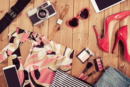 女の子のファッション 写真素材