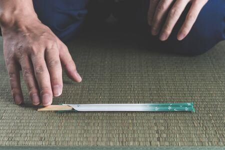 Chopsticks and Japanese-style tatami
