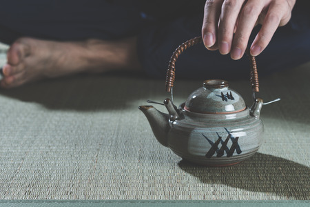 a courtesy: Tea and Japanese-style tatami