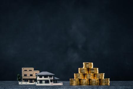 実業家、住宅モデルの握手