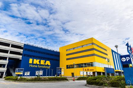 Kobe, Japan -  25 September 2016 - IKEA Kobe Port Island store in Japan. Editorial