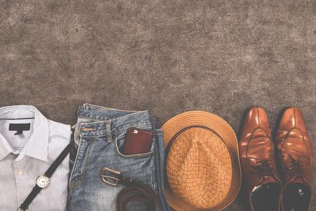 男性のファッション 写真素材
