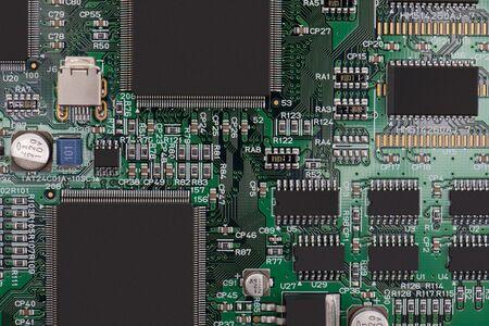 コンピューターのマザーボード 写真素材