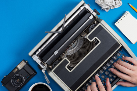 Typewriters and retro business image