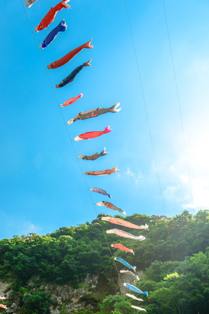 Carp streamers, Japanse cultuur Stockfoto - 79037816