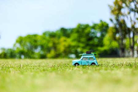 Car model and natural green