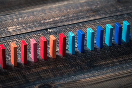 ドミノ ブロック 写真素材