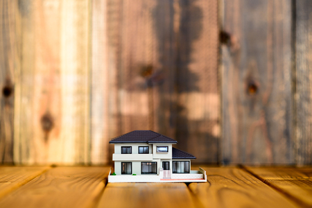home model on the wood