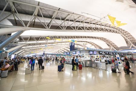 Osaka, Japan - juni 28, 2017: de internationale luchthaven van kansai is één van de belangrijkste internationale luchthavens van Japan.