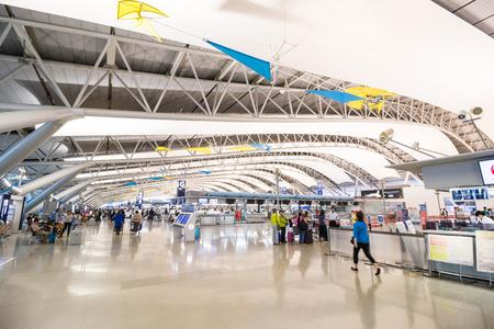 오사카, 일본 - 2017 년 6 월 28 일 : 간사이 국제 공항은 일본에서 가장 중요한 국제 공항 중 하나입니다.