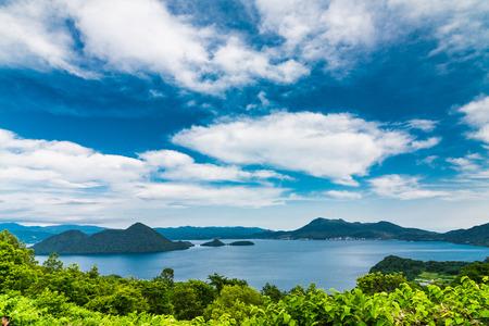 Toya Lake in Hokkaido Japan