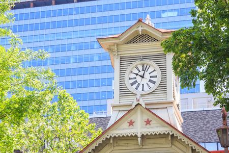 日本: Clock Tower in Sapporo Hokkaido Japan 写真素材