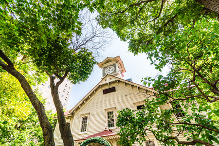 Clock Tower in Sapporo Hokkaido Japan Reklamní fotografie