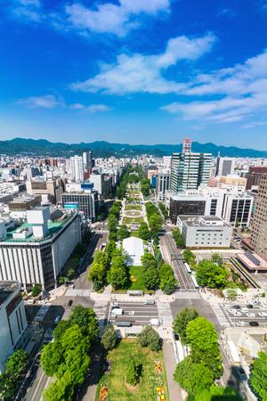 odori: Odori Park in Hokkaido Japan Stock Photo