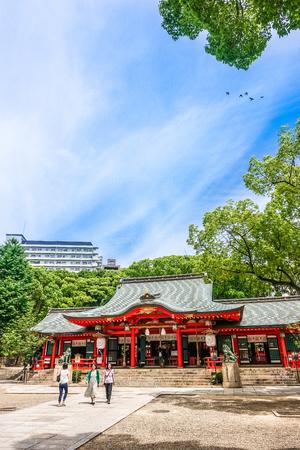 kobe,Japan - June 27, 2017: Ikuta shrine in Kobe city Japan.