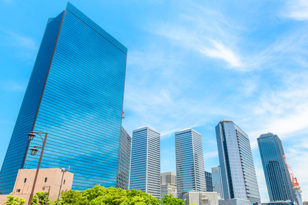 Urban landscape in Japan Stock Photo