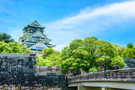 Osaka Castle in Japan Archivio Fotografico
