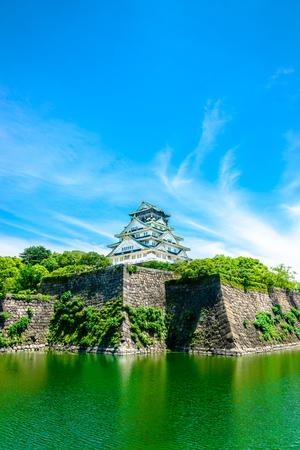 noon: Osaka Castle in Japan Stock Photo