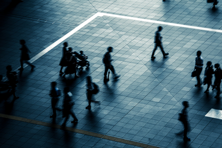 Walking people in Japan Stok Fotoğraf