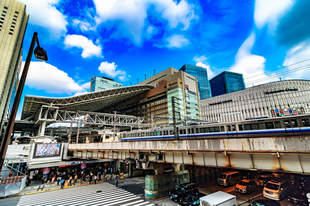 Osaka,Japan - July 12:Osaka Station is a major railway station in Osakas Umeda district that is served by a large number of local and interregional trains, but not the shinkansen which stop at Shin-Osaka Station. Editorial