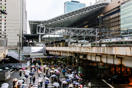 Osaka,Japan - June 25:Osaka Station is a major railway station in Osakas Umeda district that is served by a large number of local and interregional trains, but not the shinkansen which stop at Shin-Osaka Station. Editorial