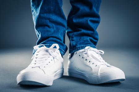 Men wearing sneakers Stockfoto