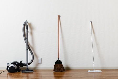 Cleaning tools, type Stockfoto