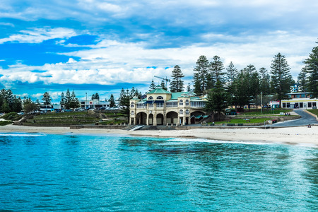 cottesloe beach of western Australia 스톡 콘텐츠