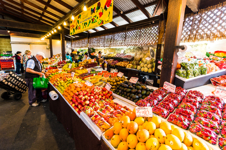 Fremantle, AUSTRALIA - September 8, 2017: The Fremantle Markets is a public market located on the corner of South Terrace and Henderson Street, Fremantle, Western Australia. Built in 1897. Editorial