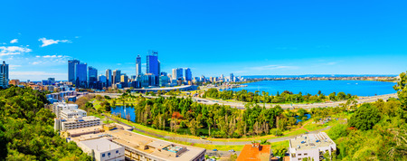 Kings Park und Perth Stadt Standard-Bild