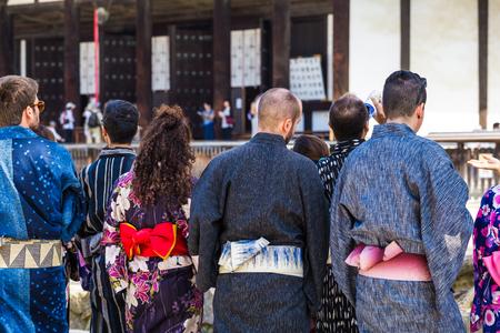 Foreigner wearing a japanese Yukata Banco de Imagens - 86531168