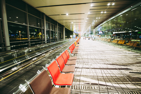 Changi, Singapore - September 3, 2017: Changi Airport in Singapore.It is the primary civilian airport for Singapore, and one of the largest transportation hubs in Southeast Asia.