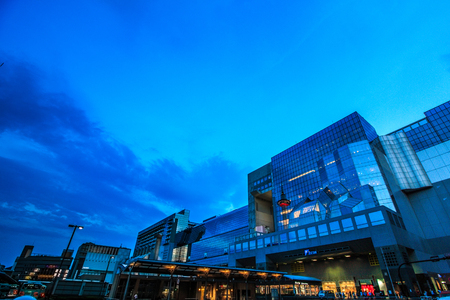 Kyoto,Japan - August 21, 2017: Kyoto Station is a railway station and transportation hub in Kyoto, Japan. Фото со стока