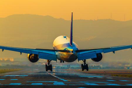 旅客航空機の着陸