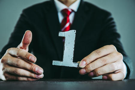 Number one and businessman Standard-Bild