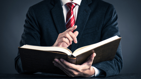 Businessman and book,studio shooting