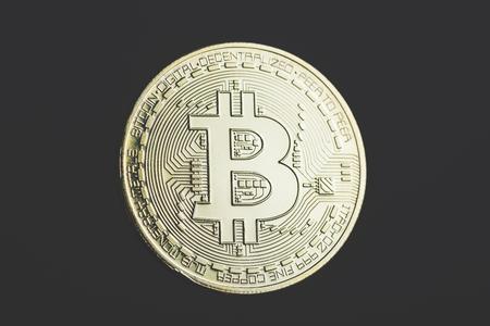 bitcoin,close up Stock Photo