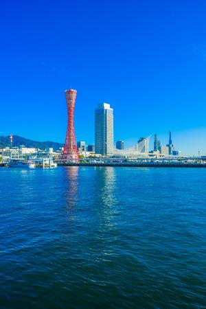 Harbor of Kobe in Japan