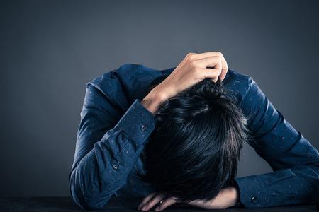 Men with dark emotions