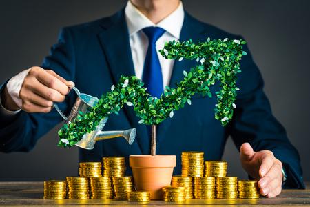 Businessmen with plants Standard-Bild