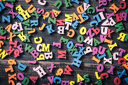 Many colorful alphabets Standard-Bild