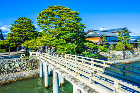 Shiga,Japan - December 5, 2017: Mangetsuji Ukimido in Otsu city, Shiga Prefecture, Japan. Stok Fotoğraf - 103202708