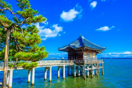 Shiga,Japan - December 5, 2017: Mangetsuji Ukimido in Otsu city, Shiga Prefecture, Japan.