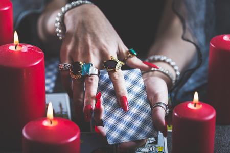 Female tarot cards fortune telling